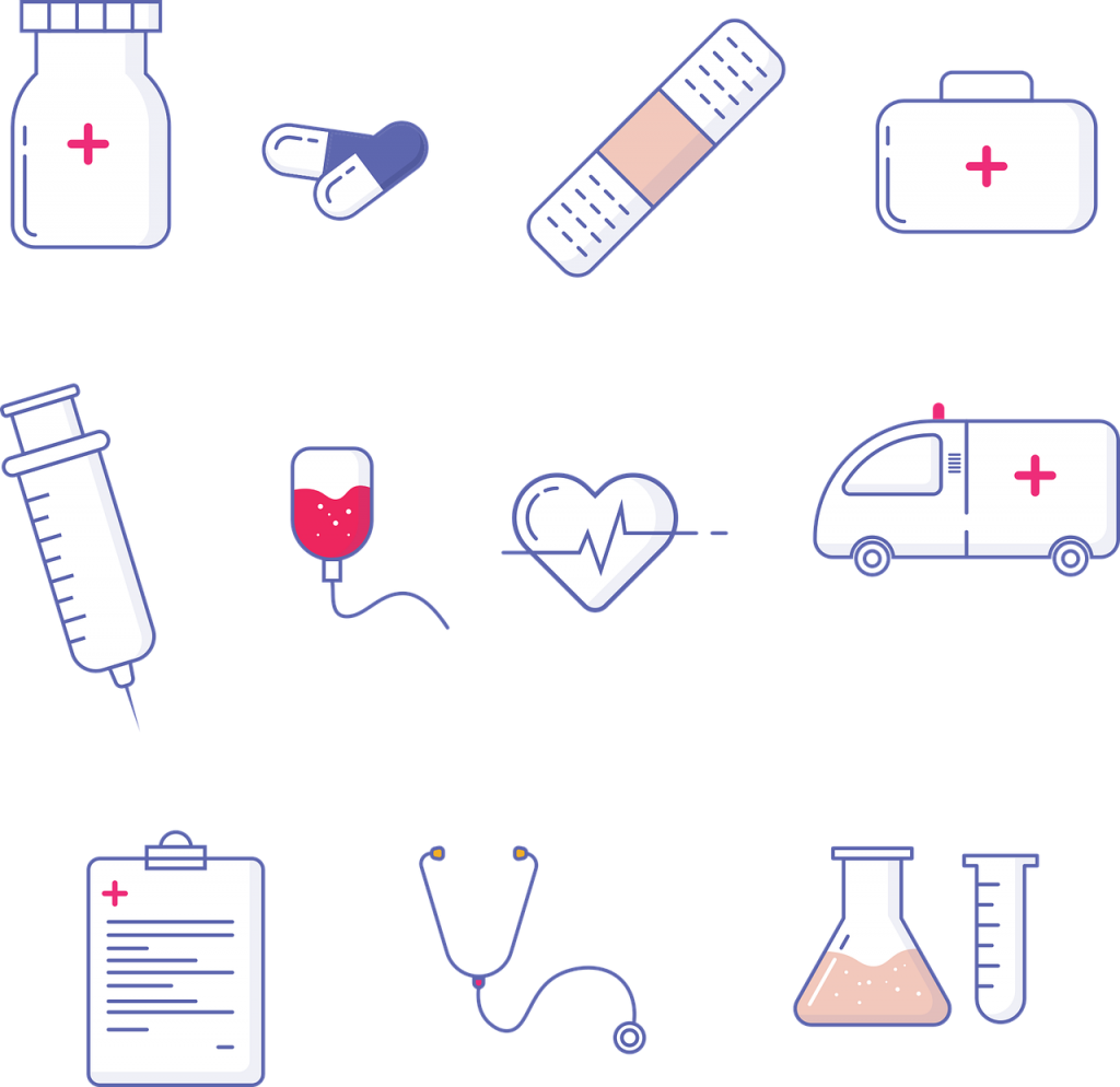 different pictures of healthcare services